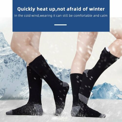 Details about  /Electric Heated Socks Feet Warmer Rechargeable Battery Warm Skiing Hunting USA