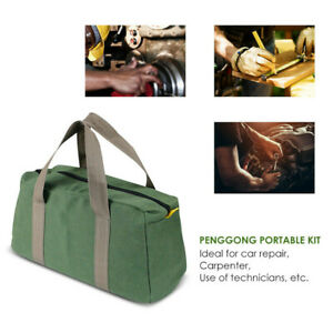 Multi-function-Canvas-Waterproof-Storage-Hand-Tool-Bag-Portable-Toolkit-Pouch-UK