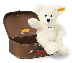 Steiff Cosy Lotte Teddy Bear In A Suitcase White Soft Cuddly Plush 27cm 111464
