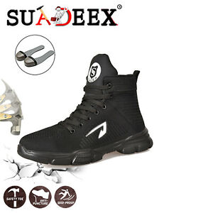 New Men/'s Work Safety Shoes Steel Toe Bulletproof Boots Indestructible Sneakers