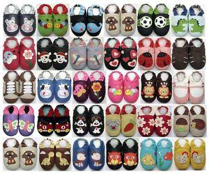 Baby-Krabbelschuhe-Lederpuschen-Lauflernschuhe-Hausschuhe-Schuhe-Maedchen-Junge