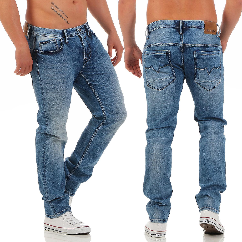 Big Seven Morris Medium Medium Medium blu Regular Fit Jeans Uomo Pantaloni 8b4542