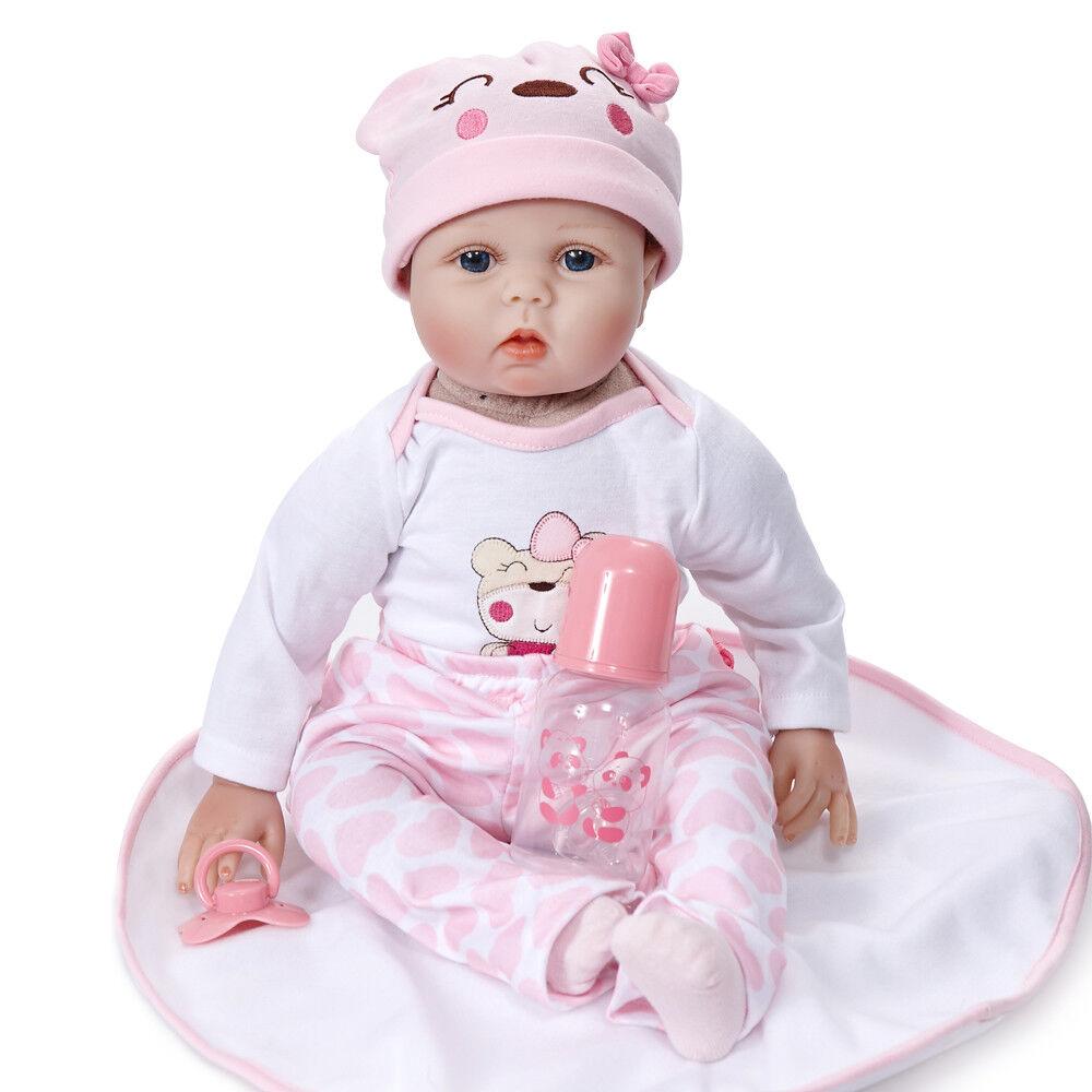22  realistiche neonato Bambole Reborn In Vinile in Silicone Realistico GIRL BAMBOLA regali