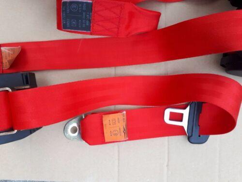 BMW E30 Rote Sicherheitsgurte M3 E30 Red Seat Belts E36//E46//E39//E34//M5//