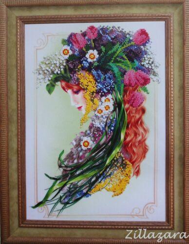 Primavera Lady Stick envase Stick imagen stickset imagen bordar con perlas 412