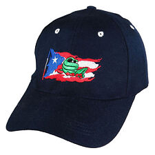 07ee3deae8d86 item 1 Puerto Rico Flag Baseball Cap Hat Coqui Island Embroidered Blue  Black Red White -Puerto Rico Flag Baseball Cap Hat Coqui Island Embroidered  Blue ...