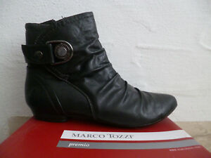 Marco About Boots Black Details Tozzi Ankle New 6gyvYbf7