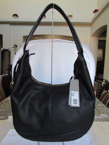 Details about  /Halston Heritage Cx2006l1 Slouchy Shoulder Leather Hobo Bag Black 062827-12 $398