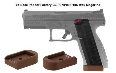 UTG Pro Leapers 0 Base Pad for CZ P07/p10c Magazine Matte Bronze Aluminum