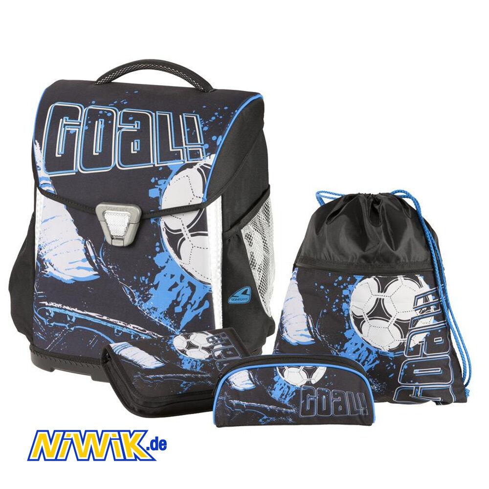 Ranzenset - Schneiders - Basic Goal - 4-teilig - Fußball - Schulranzen - Ranzen   Elegantes und robustes Menü    Zuverlässige Qualität    Erschwinglich