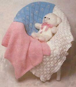 Sweater Patterns Knitting Free : Baby Shawl, Pram and Cot Covers/Blanket Knitting Pattern DK 838
