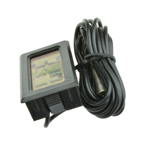 Black//White Aquarium Temperature Gauge LCD Digital Thermomer For FIish Tank New
