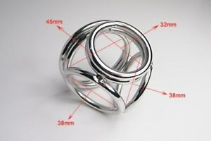 Male-Stainless-Steel-Chastity-Ring-Ball-Stretcher-Delay-Enhancer-Sexy