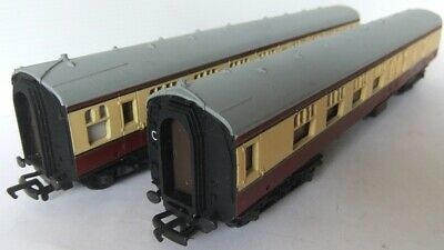 Oo Scale Cream Corridor Coaches X 2 Mainline Railways Br Mk1 Red