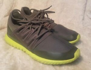 best loved a478a 50c2c Details about Adidas Tubular Radial Gray Grey Green Shadow Lime S75394  Runner Originals sz 10