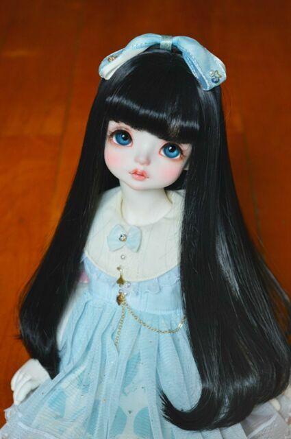 Bjd Doll Wig 1//3 8-9 Dal Pullip AOD DZ AE SD DOD LUTS Dollfie Red black Toy
