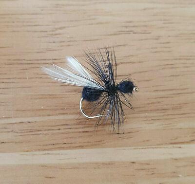 12 One dozen R2N Black Ant size 8 fishing flies