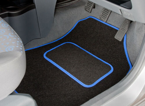 TAILORED CAR MATS WITH BLUE TRIM 2010 TO 2017 NISSAN MICRA 2326