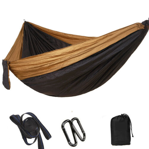 Ultralight Double Camping Hammock 210T Parachute with Straps for Travel Beach