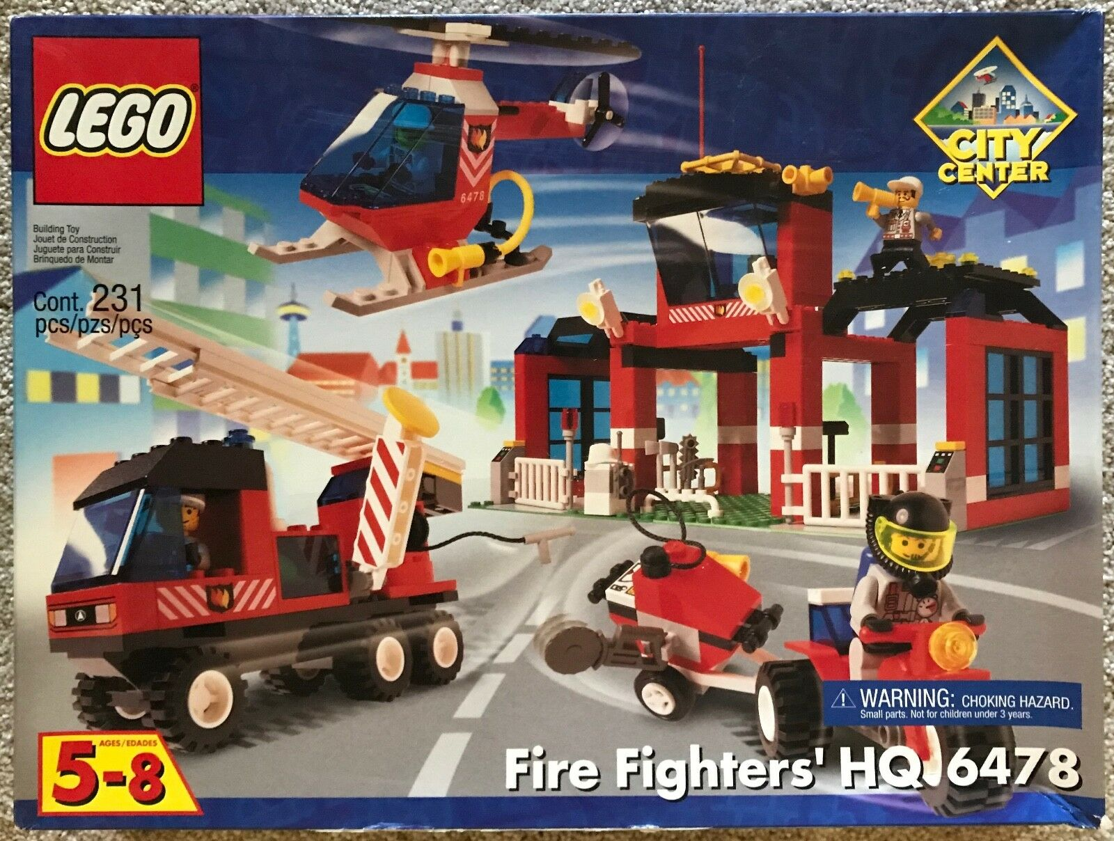 Lego City Center bomberos's HQ (6478) Nuevo, Sellado, jubilado