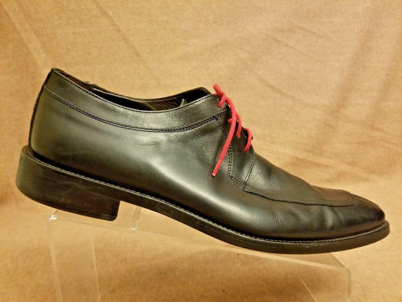 To bota New York Adam Derrick Hombre Negro Cuero Oxford dedo del pie división de vestir Zapatos 12