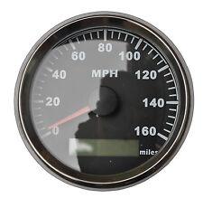 GPS MPH Speedometer Gauge Odometer Black For ATV UTV Motorcycle Marine Boat