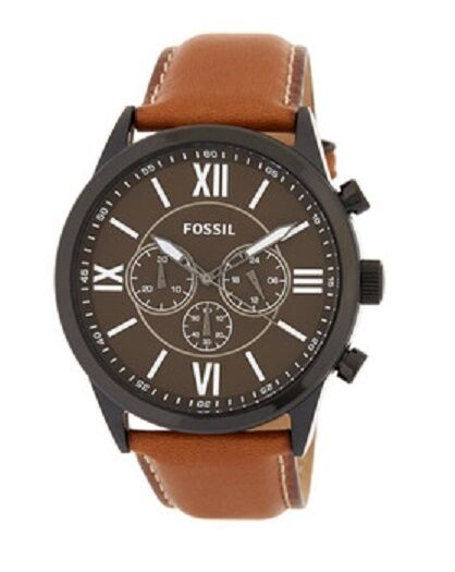43314c3f792db Fossil Chronograph Black Dial Brown Leather Strap Men s Watch Bq2042 for  sale online