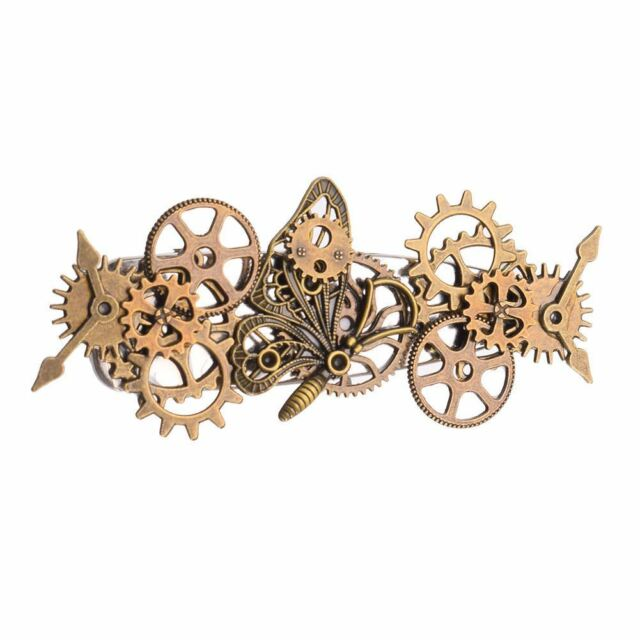 Girls' Punk Butterfly Hair Clips Vintage Women's Steampunk Goth Gear Hairpins