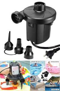 Eléctrico Bomba de aire Quick-Fill Inflator para Colchón Piscina Flotador 110V