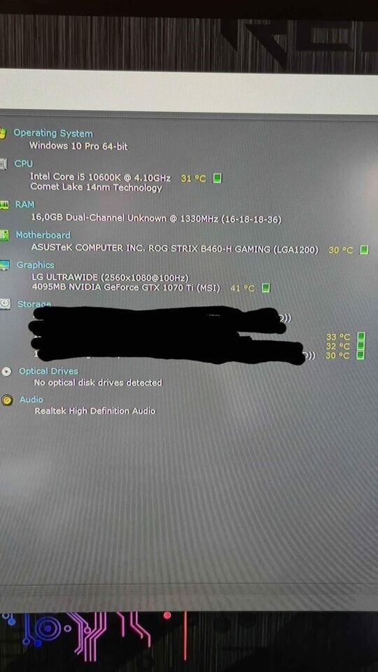 Selvbyg, ASUS / INTEL, i5-10600k 4.8 Ghz