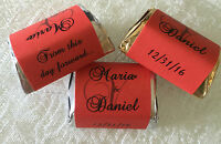 300 Red Monogram Wedding Candy Wrappers/labels/stickers Personalized Favors