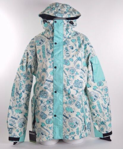 2015 NWT MENS GRENADE GAS SCREEDLER JACKET $190 blue multi-color insulated