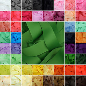 Grosgrain-Ribbon-in-64-Plain-Solid-Colours-Lilac-Passion-Fruit-Green