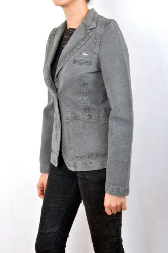 jaren Jacket U8 Lacoste Blazer S F36 Ver Grey Breasted Black 90 Vintage Single Bx4wT1qO