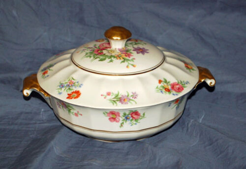 (1) Raynaud China Limoges France Covered Serving Bowl RYD 70