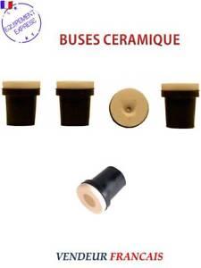 2 JEUX DE 4 BUSES CERAMIQUE NOIRES POUR PISTOLET SABLEUSE 2,5mm
