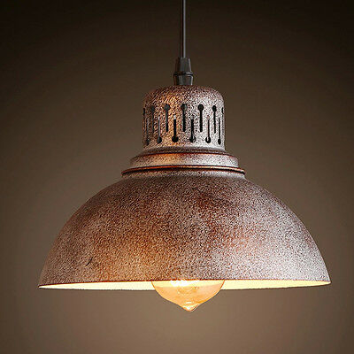 Retro Vintage Loft Shade Pendant Lamp Ceiling Light Lighting Bar Cafe Dining 1pc