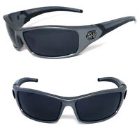 New Choppers Bikers Mens Sunglasses UV Protect - Gunmetal Frame Dark Lens C35