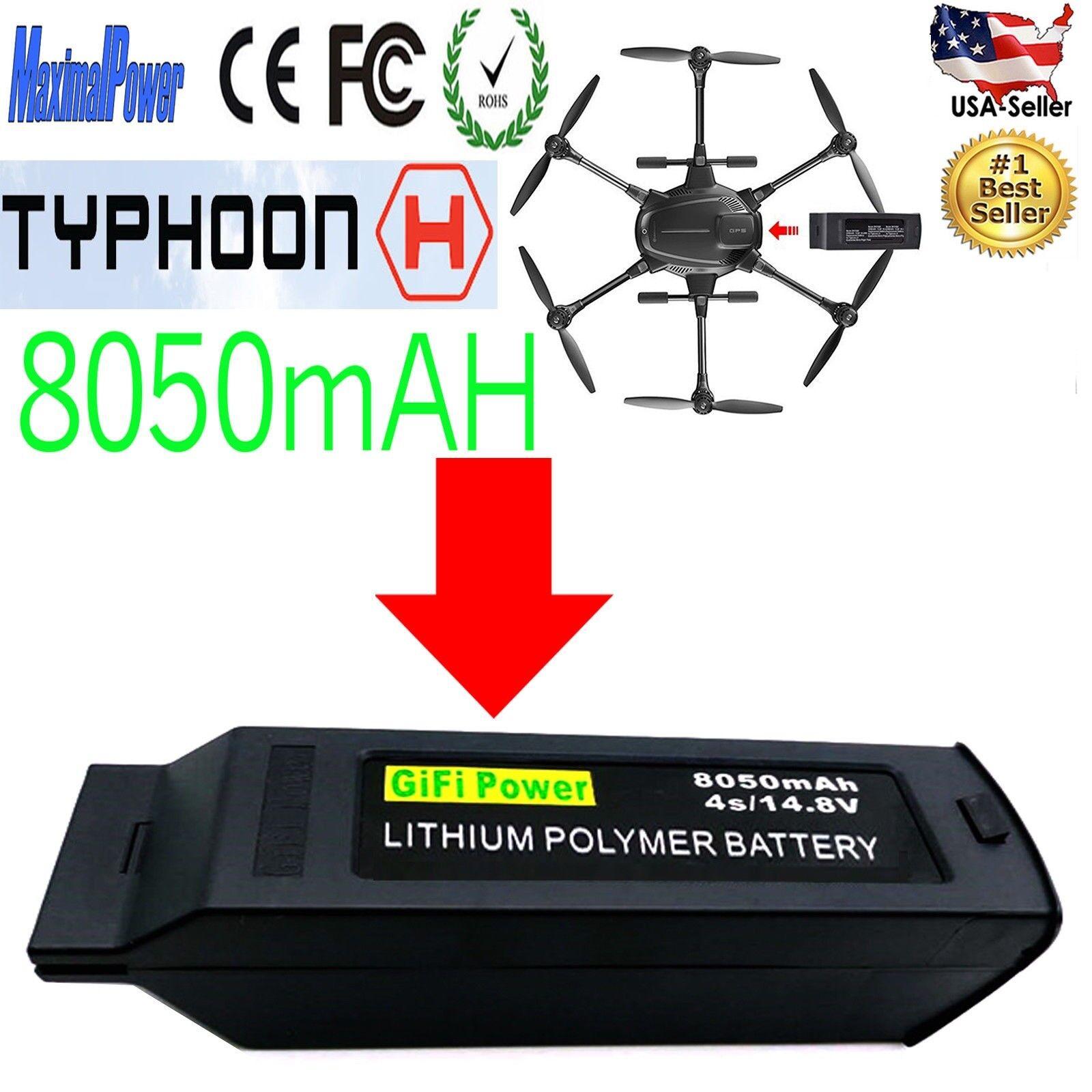 8050mah 14.8v lipo batterie fr yuneec taifun h drohne rc hexacopter