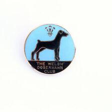 Doberman Vintage Dog Club Brooch /Pin/ Badge Metal Enamel