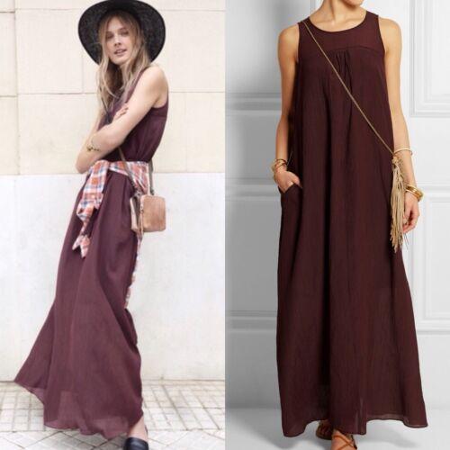 Madewell Shirred Maxi Dress Size L