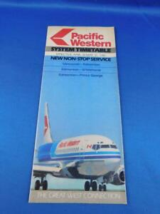 PACIFIC-WESTERN-AIRLINES-SYSTEM-TIMETABLE-APRIL-MAY-1981-NON-STOP-SERVICE