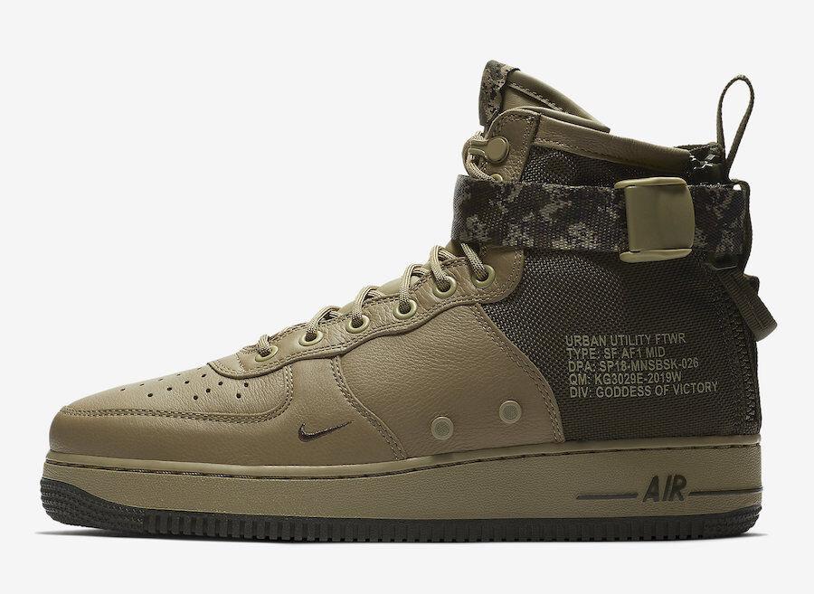 Nike SF AF1 Air Force Mid Men's shoes Olive   Cargo Khaki NIB 917753-201