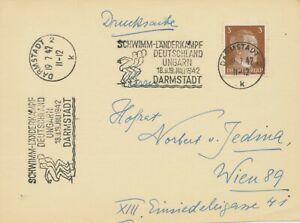 Deutsches-Reich-1942-034-Darmstadt-2-19-7-42-Natation-pays-combat-Allemagne