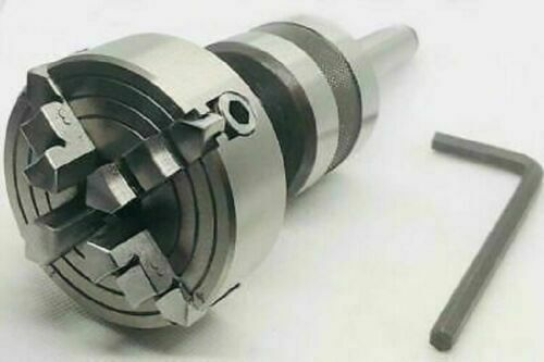 REVOLVING LIVE CENTER MT3 THREADED M14 X 1 WITH 70 MM INDEPENDENT CHUCK