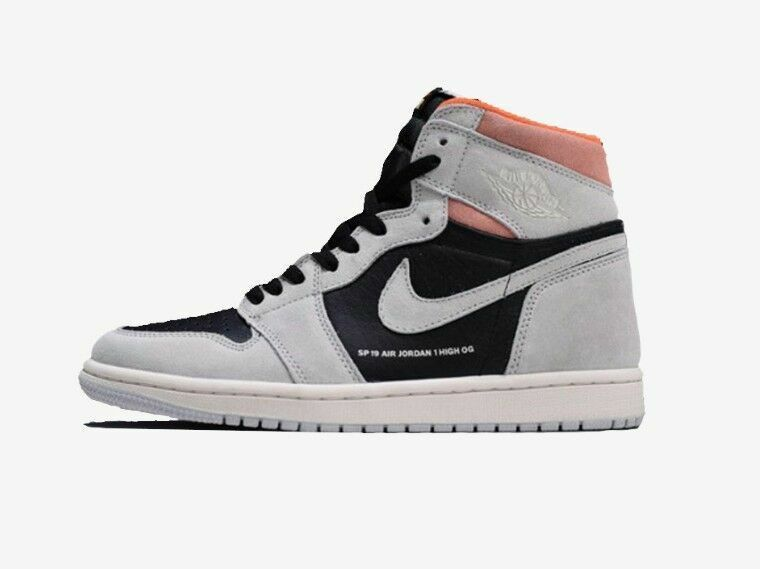 Nike Air Jordan 1 Retro High OG 8-13 Neutral Grey Hyper Crimson 555088-018
