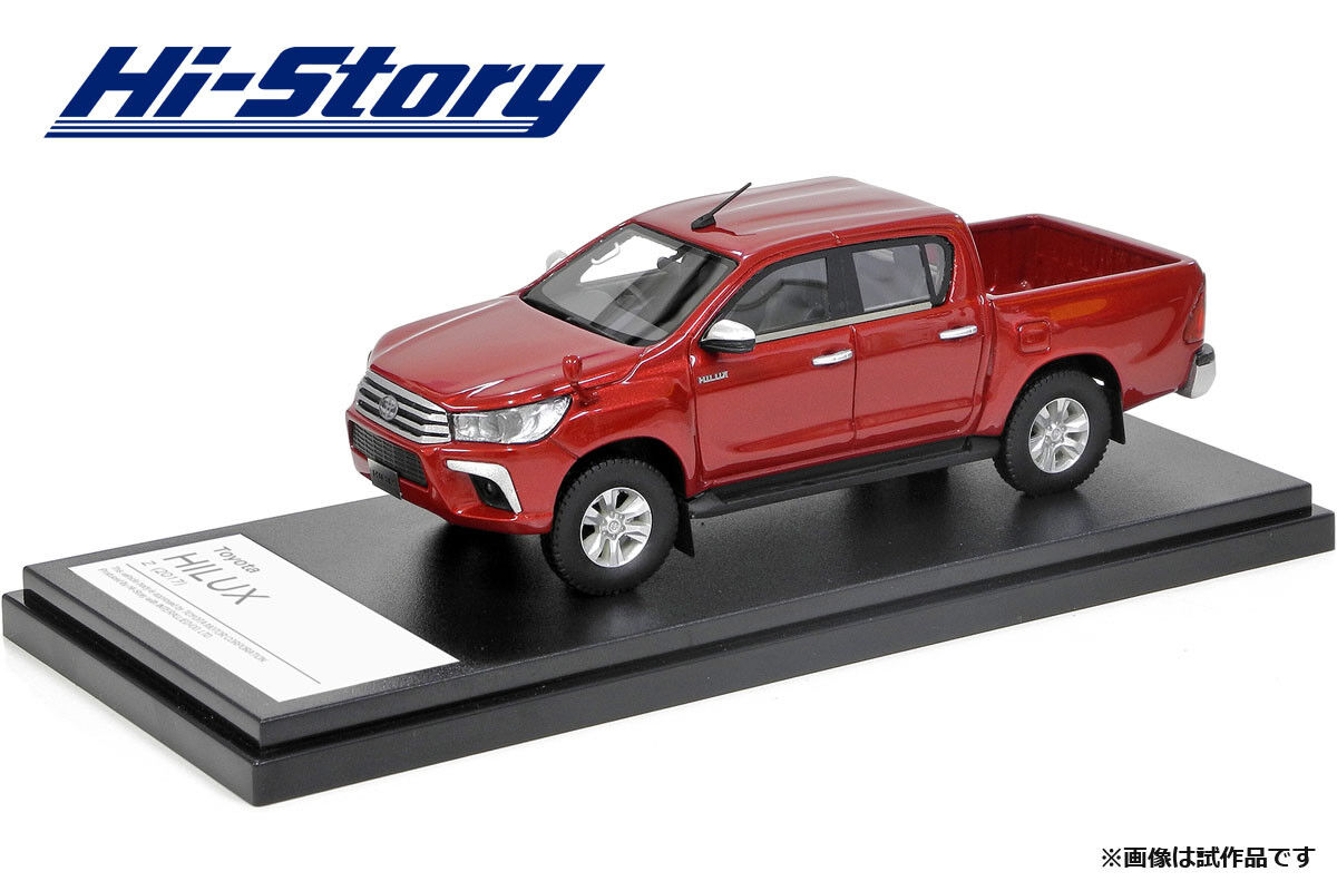 1 43 Hi-Story Toyota HILUX Z (2017) Crimson spark red metallic HS204RE NEW
