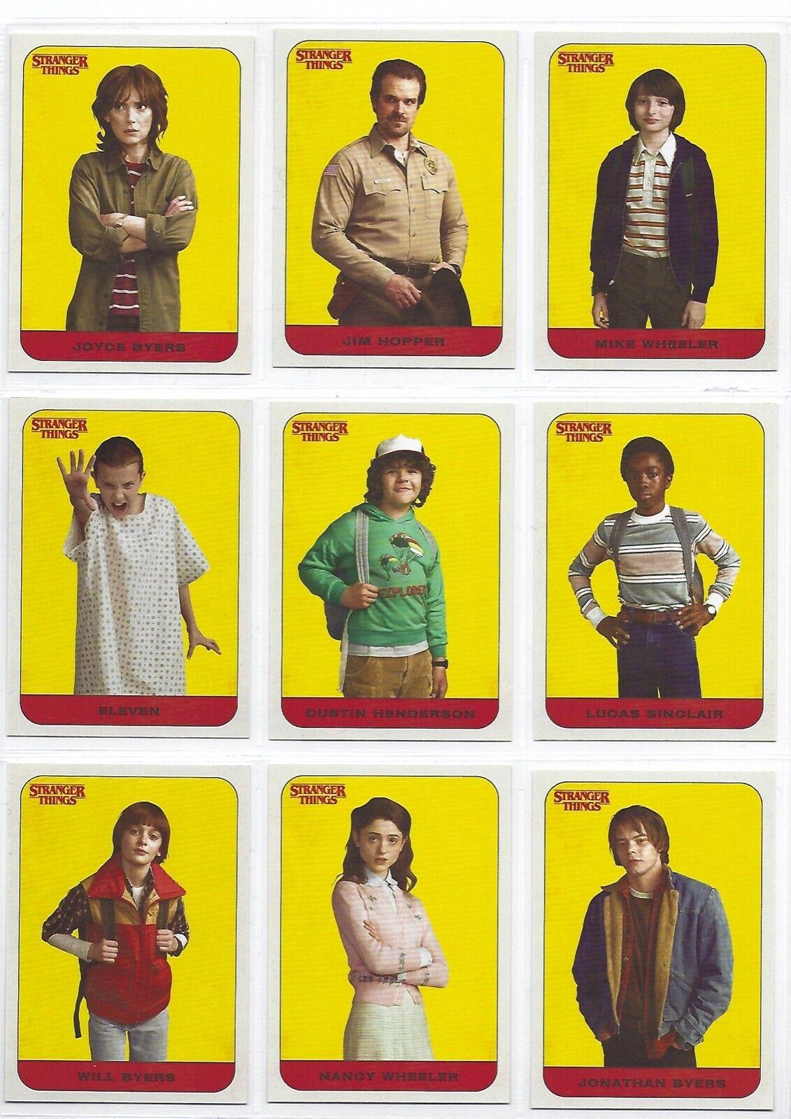 150 Cards Stranger Things Season 1 Mini Master Set Base /& 3 Chase
