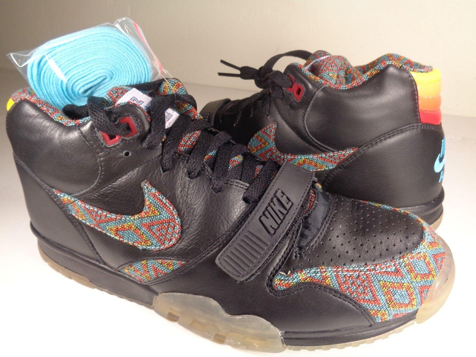 Nike Air Trainer 1 Mid PRM NPCE QS Victor Cruz noir Rare SZ 9.5 (623912-001)