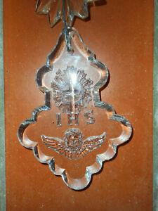 CompéTent 6 Pampilles En Cristal Gravees D'angelots Pour Lustre Applique.eglise.ihs.xix°.